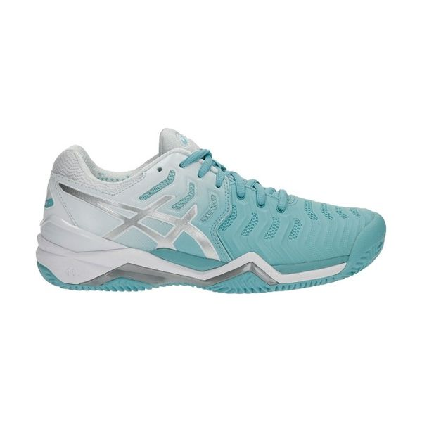Asics – GEL-Resolution 7 Clay – Porcelain Blue -Silver-White lato 1