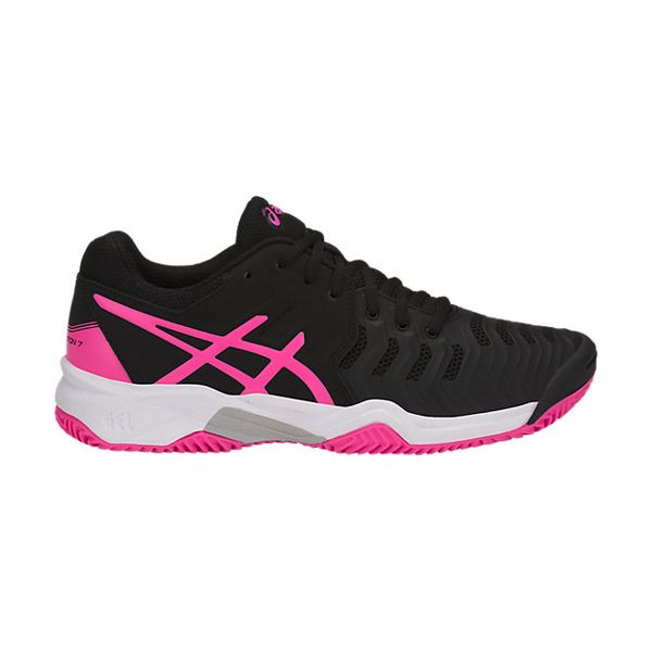 Asics – GEL Resolution 7 GS – Black - Hot Pink - Silver lato 1
